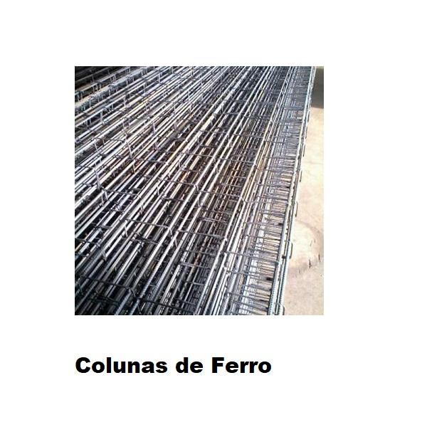 Colunas de Ferro - Medidas: - 07x15 (4 Ferros 5/16) 3M Gerdau - 07x15 (4 Ferros 5/16) 4M - 07x15 (4 Ferros 5/16) 5M - 08x18 (4 Ferros 3/8) 4M - 08x18 (4 Ferros 3/8) 3M Gerdau - 08x18 (4 Ferros 3/8) 5M Gerdau - 08x18 (4 Ferros 3/8) 6M Gerdau - 12x25 (6 Ferros 3/8) Sob Medida