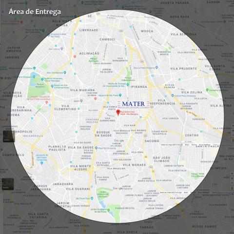 Nossa Localização - Área de Entrega